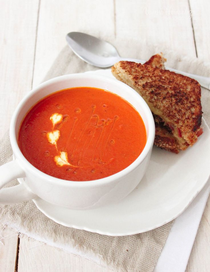 Tomato Soup With Bacon Grilled Cheese Recipes — Dishmaps