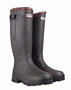 Hunter Balmoral Bamboo Carbon Wellington Boots Size 4 in Dark Olive