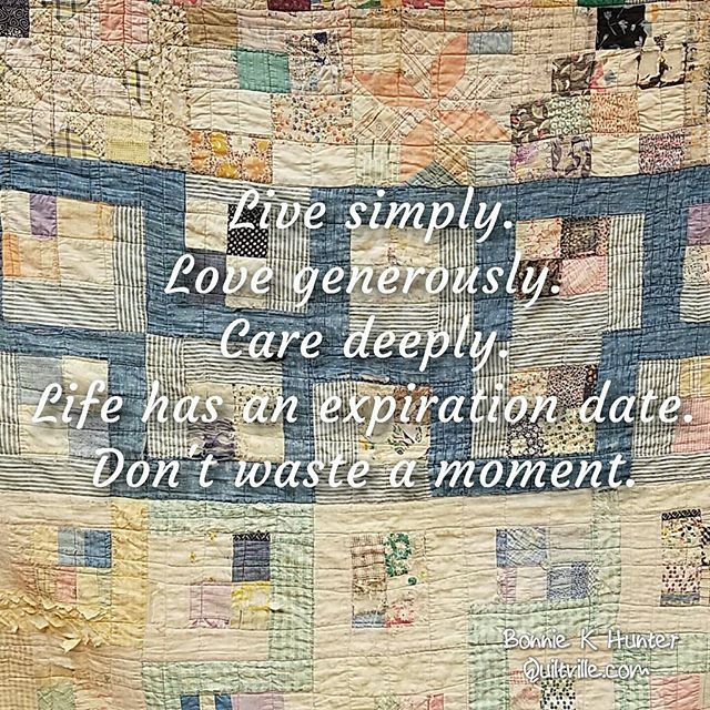 Spending just a few hours with family due to a travel snafu was the best thing that could have ever happened to me. Family is everything! Vintage quilt…