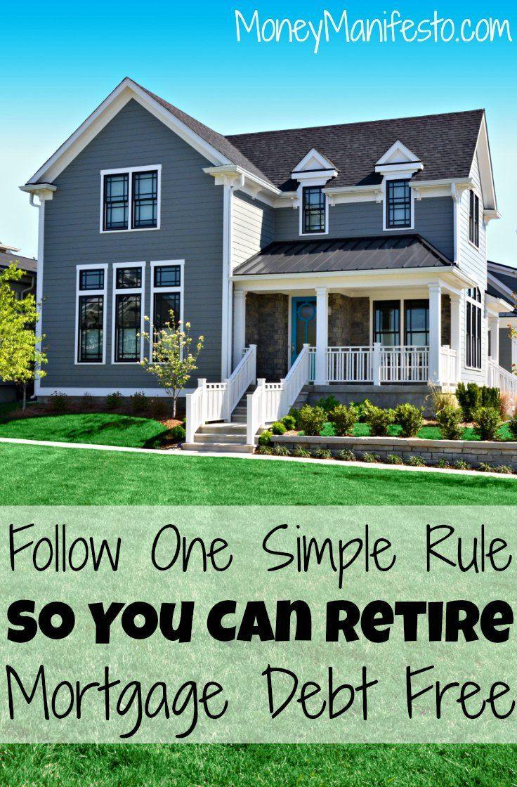 Follow One Simple Rule To Retire Mortgage Debt Free Mortgage Debt Debt Free Mortgage Amortization