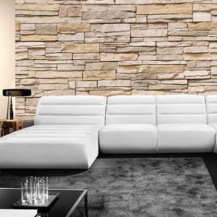Vlies Fototapete PREMIUM 400x280cm ASIAN STONE WALL by ...