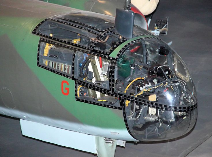 View of the cockpit of the Arado Ar 234 B-2 Blitz bomber.