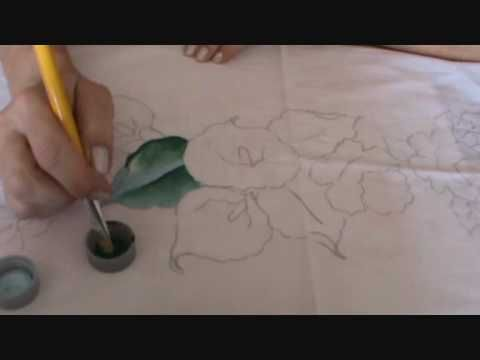 Como pintar copo de leite youtube pintura for Como pintar puertas de sapeli