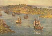 The First Fleet in Sydney Cove, January 27, 1788