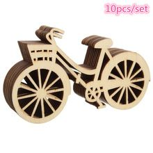 10 pçs/set Brand New Bicicleta Cortando Artesanato Artesanato Em Madeira Artesanato de Madeira Modelo DIY Acessórios 88mm * 48mm(China (Mainland))