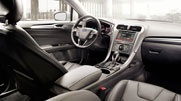 The 2013 Ford Fusion Titanium shown with Charcoal Black interior trim.