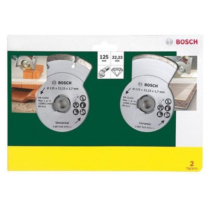 Bosch 2 Disques Diamants 125mm Materiaux En 2020 Disque Diamant Meuleuse Materiaux De Construction