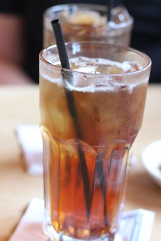 Kentucky Tea: Wild Turkey American Honey Bourbon, Iced Tea and Fresh Lemon – On the Rocks!