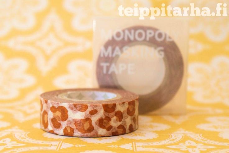 Eläinkuosi (leopardi, ruskea) washi teippi
