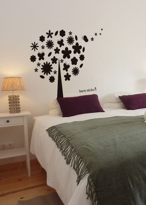 wallsticker flower tree Wallpaper interior Design