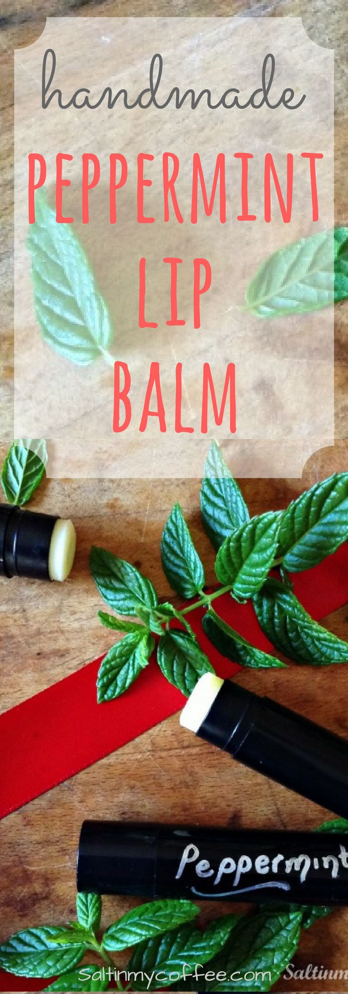 BEST recipe for handmade peppermint lip balm!
