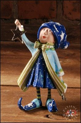 """PATIENCE BREWSTER 2012 COMET'S STAR ELF ORNAMENT  Dimensions: 4.5"""" x 2.5"""" Primary Material: Stone Resin"""