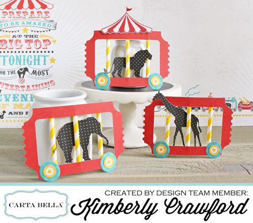"""circus party train by Kimberly Crawford with the """"Circus Party"""" collection and designer dies by #CartaBellaPaper"""