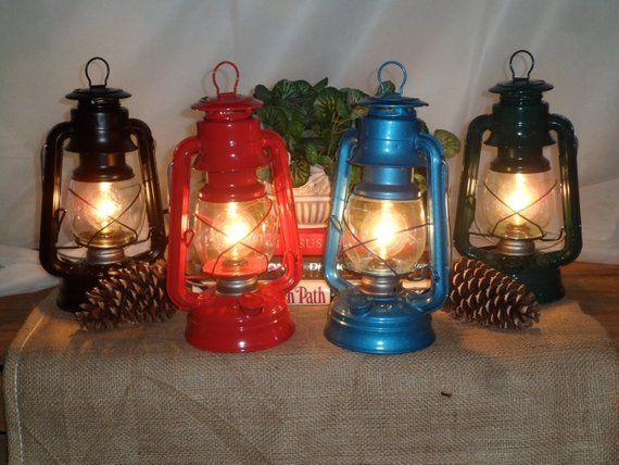 Rustic Electric Lantern Table Lamp, Electric Lantern Table Lamps