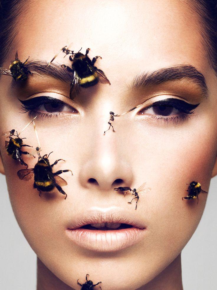 Magazine: Schön  Issue: #19  Beauty: Elias Hove   Makeup Assistant: Jemma Bowles  Model: Jaz Wasson   Installation: Tessa Farmer  Production: Antony Burger  Website: eliasmakeup.com