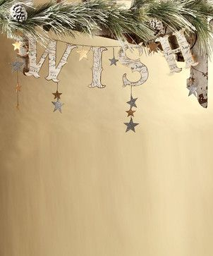 natural outdoor christmas decorations pics | Wish Garland transitional-holiday-outdoor-decorations