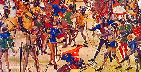 The French composite crossbow was shown to be an inferior weapon to the English longbow at Crécy 1346, Poitiers 1356 and Agincourt 1415.