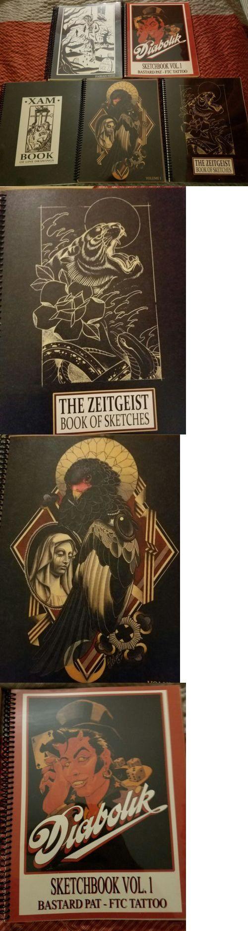 Tattoo Flash: Tattoo Sketchbook Flash Book Collection Xam, Emily Wood, Zeitgeist Diabolic(K) -> BUY IT NOW ONLY: $80 on eBay!