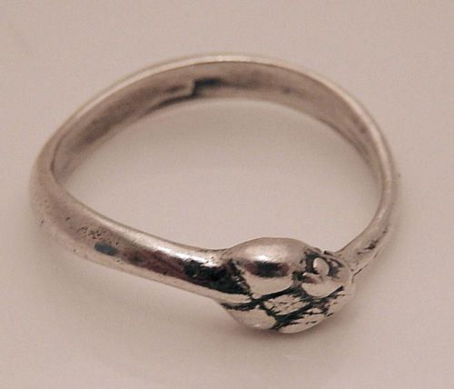 SNAKE Ouroboros Ring in .925 Sterling Silver - Serpent Power Snake Mother Ring