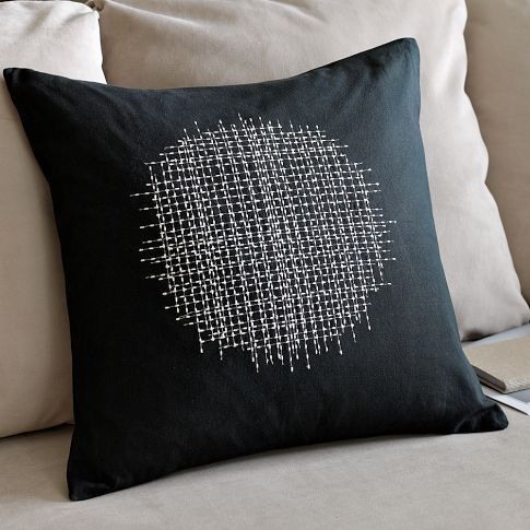What a great simple design! Use any color pillow and any color Sulky 12 wt cotton Petite to add a modern touch to your decor