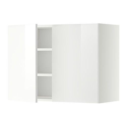 METOD Wall cabinet with shelves/2 doors IKEA You can customise spacing as you need, because the shelf is adjustable.