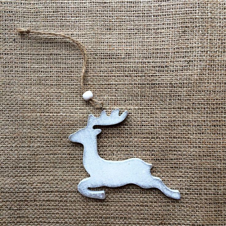 Christmas Decoration - Vintage White Reindeer