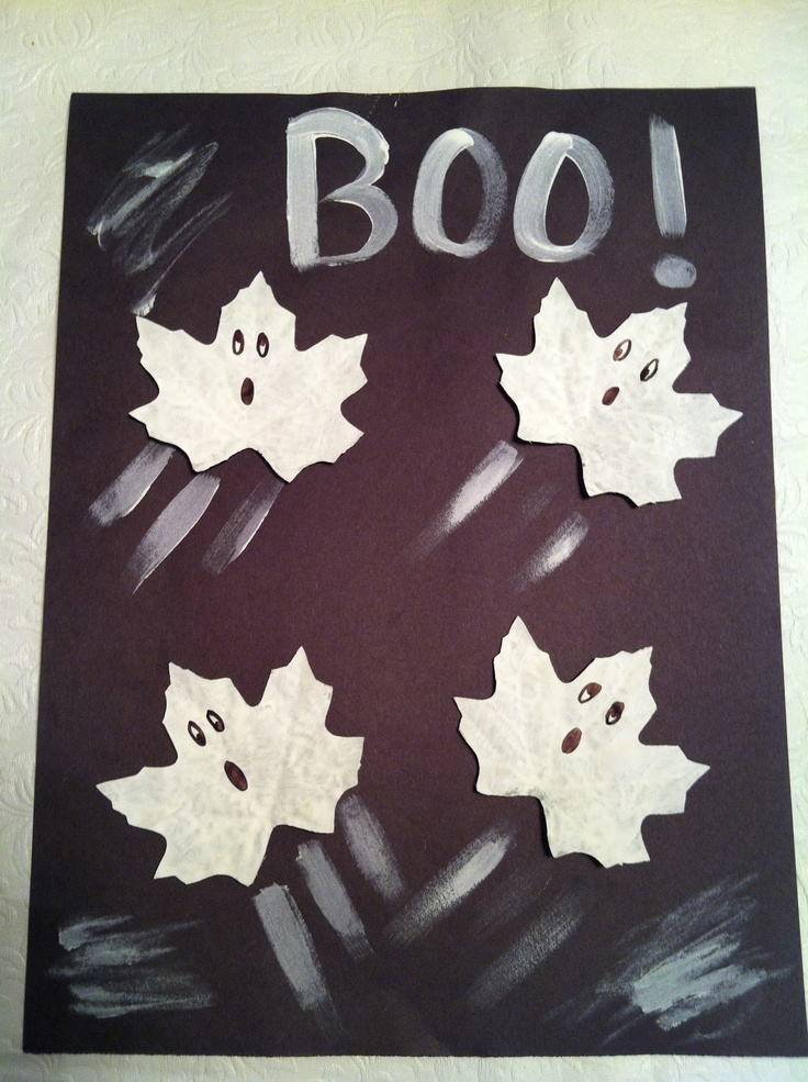 How to make Ghost Leaves Craft for Halloween