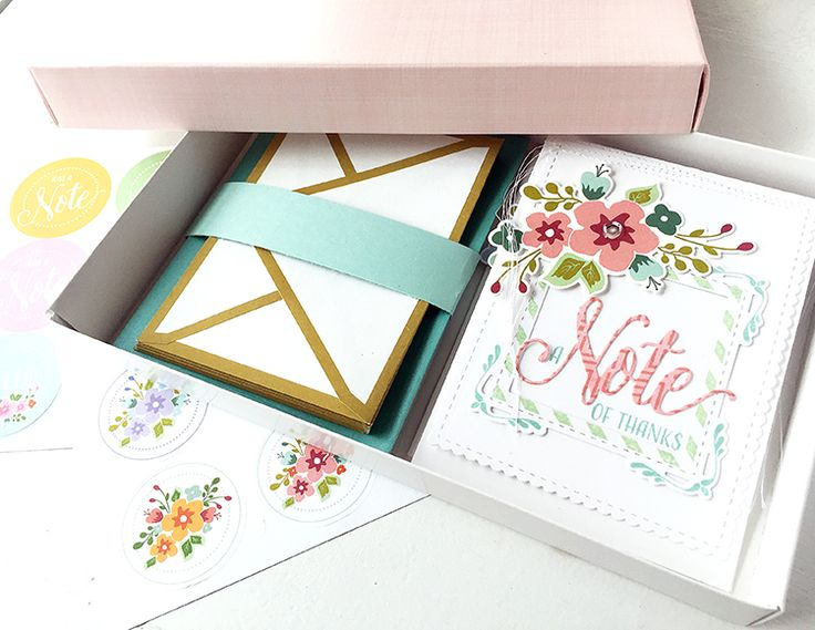 A Note Of Thanks Card by Danielle Flanders for Papertrey Ink (April 2016)