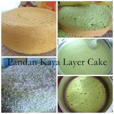 Pandan Kaya Layer cake