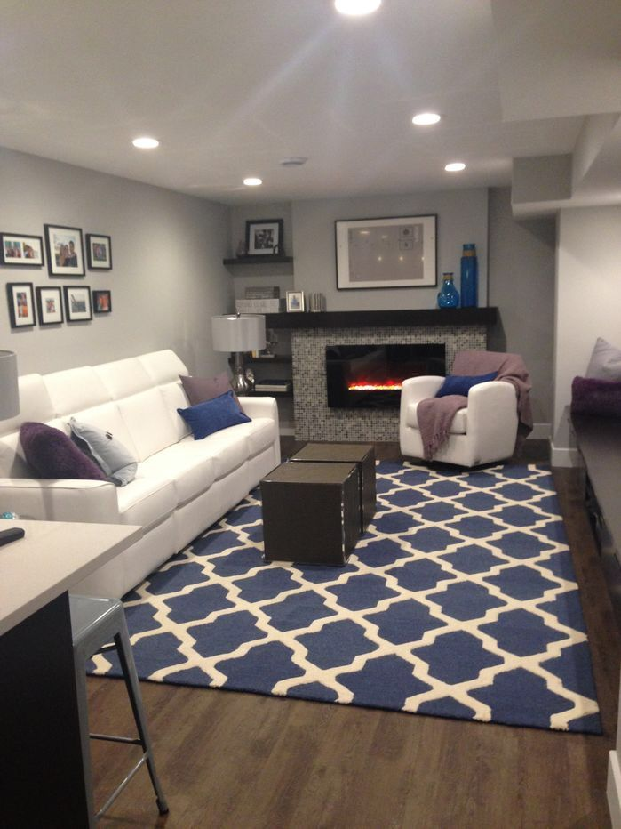 Cambridge Lattice Navy Blue Ivory Area Rug Arearugs Blue Living Room Rugs In Living Room Navy Living Rooms