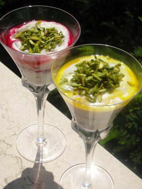 La mia cucina persiana: Yakh dar behesht - Budino di riso, Cardamomo, Acqu...