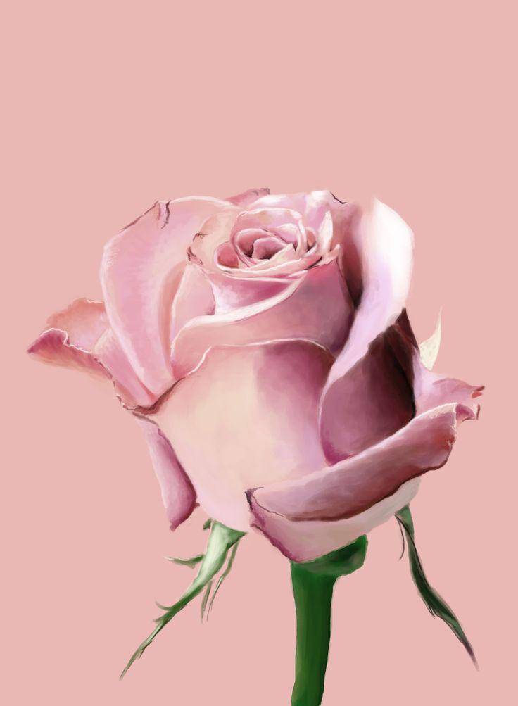 Rose Gold Flowers Wallpaper
