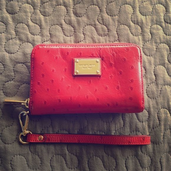 Michael Kors red iphone case wallet phone case wallet NO STAINS MICHAEL Michael Kors Bags Wallets