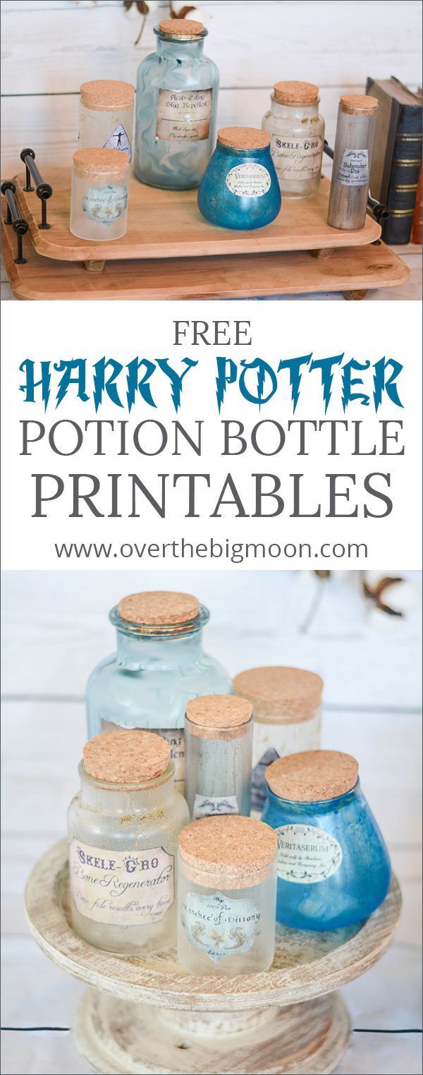 free harry potter potion bottle printables create your own potion bottles with these free printables