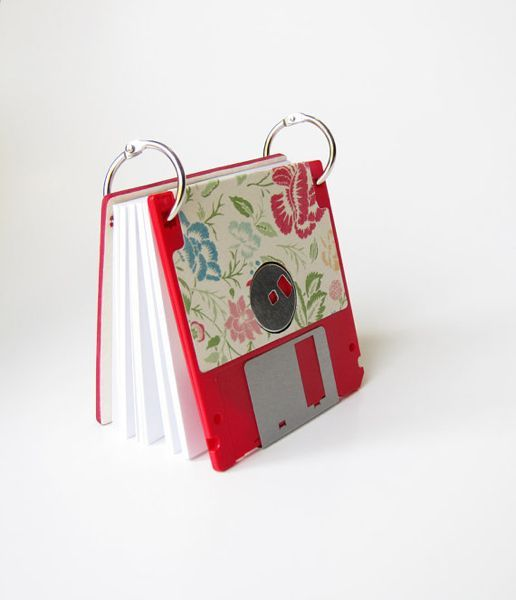 Floppy disk drives have mostly disappeared now, though floppy disks themselves still exist. They have a way of nestling in disorganized places like closets, dusty but probably functional if you happen to have an 'ancient' computer. If not, they're also perfect for upcycling.
