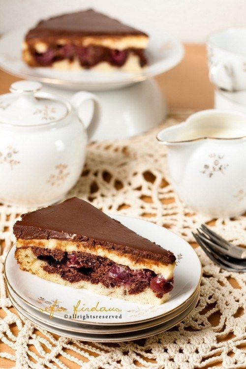 Donauwell  is a traditional sheet cake popular in Germany and Austria.