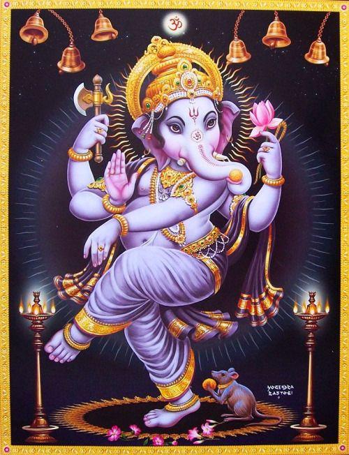 Dancing Ganesha Artist: Yogendra Rastogi (via ebay: Indian_ash)