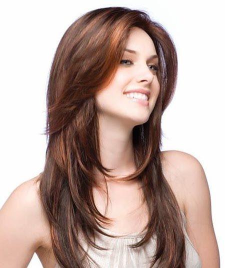 Beautiful long layered haircut for women