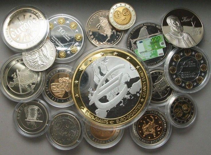 LOT 17 x Medaillen EU EUROPA EURO Währung # 15051