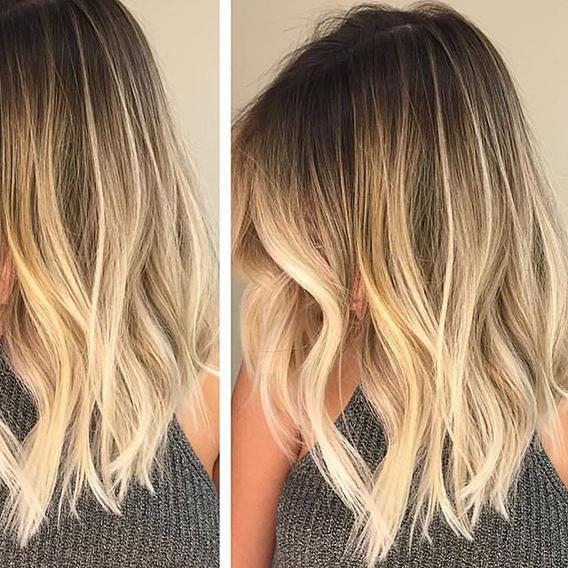 Smudged root transitioned into a perfect buttery blonde✌️ @belximenes