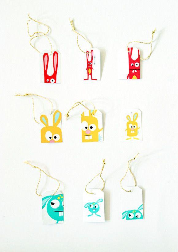 Printable Easter Gift Tags | Handmade Charlotte For the less reverent Easter observer.