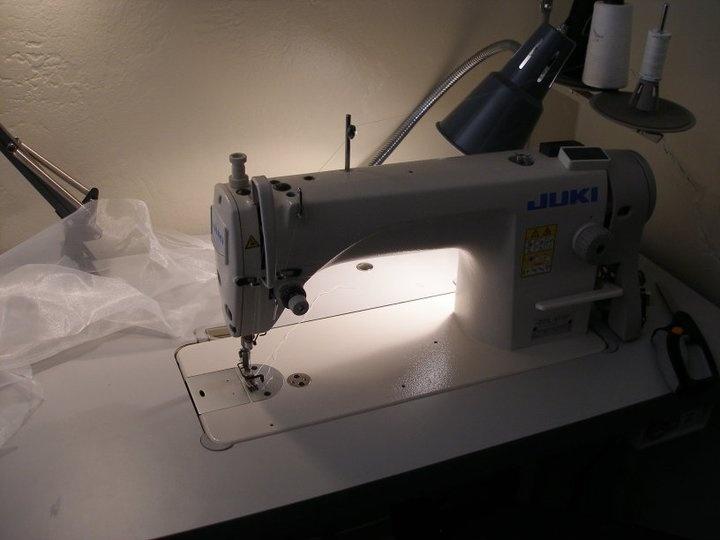 My work horse, my industrial Juki sewing machine.