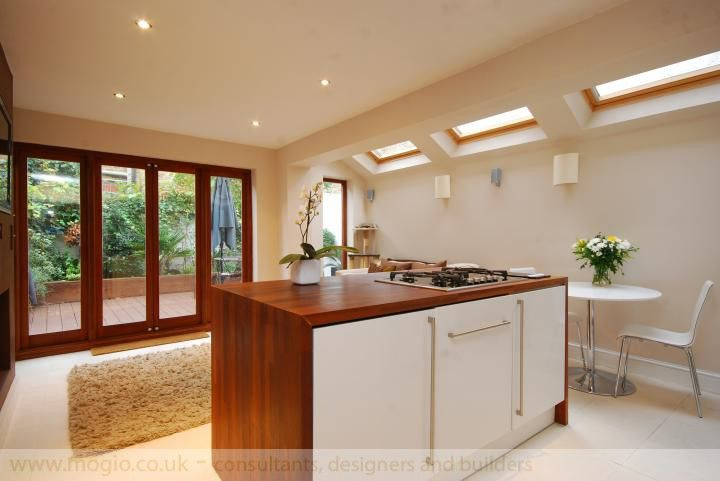 Superb kitchen with space for dining