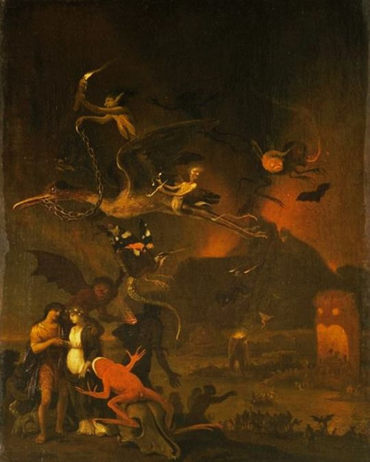 Vision of Hell - by Cornelis Van Poelenburgh.