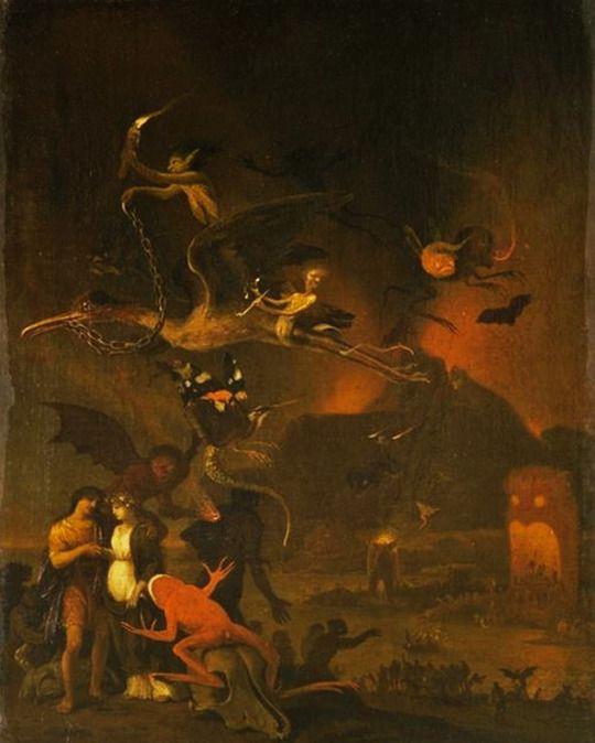 Vision of Hell - by Cornelis Van Poelenburgh.