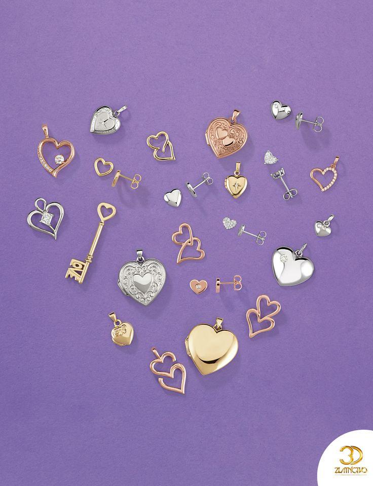 Už len necelý mesiac a je tu Valentín, nezabudnite na svoje milované polovičky. ;) #valentine #valentinesday #valentin #love #couple #jewellry #hearts #cute #sperky #srdiecka