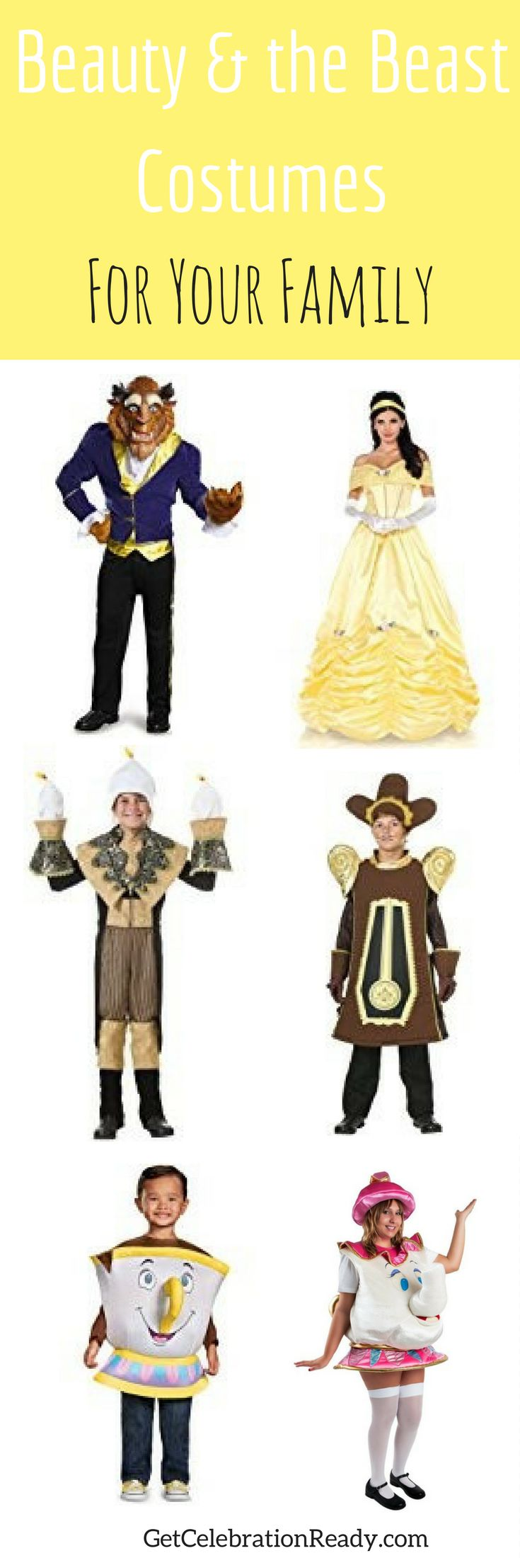 Beauty and the Beast Costumes are great for families because of the extra characters that come to life in the movie. Lots of fun costumes for all ages. This is a very popular Halloween costume theme this year. Also great couples costumes just using Belle Costume and the Beast Costume.