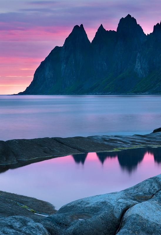 #Norway The dawn on the island of Senja Andre Ermolae, http://500px.com/photo/43555402/the-dawn-on-the-island-of-senja-by-andre-ermolaev?from=user