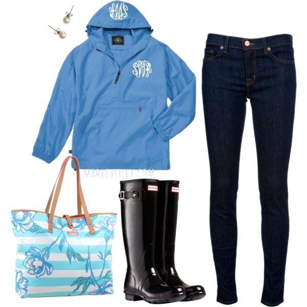 innovative preppy rainy day outfit 11