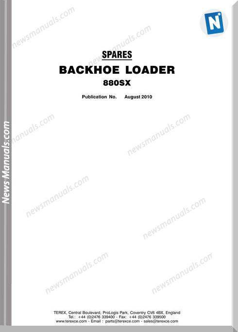 Terex Backhoe Loaders 880Sx Part Manual | Parts Manual